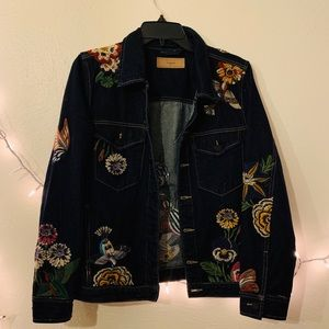 Blank NYC Embroidered Night skies Denim Jacket